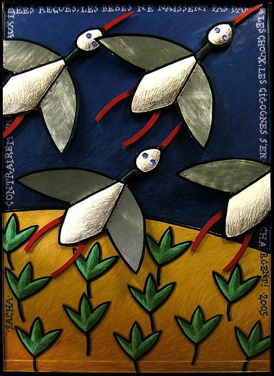 Sacha Schwarz - Oeuvres - Fables : Cigognes