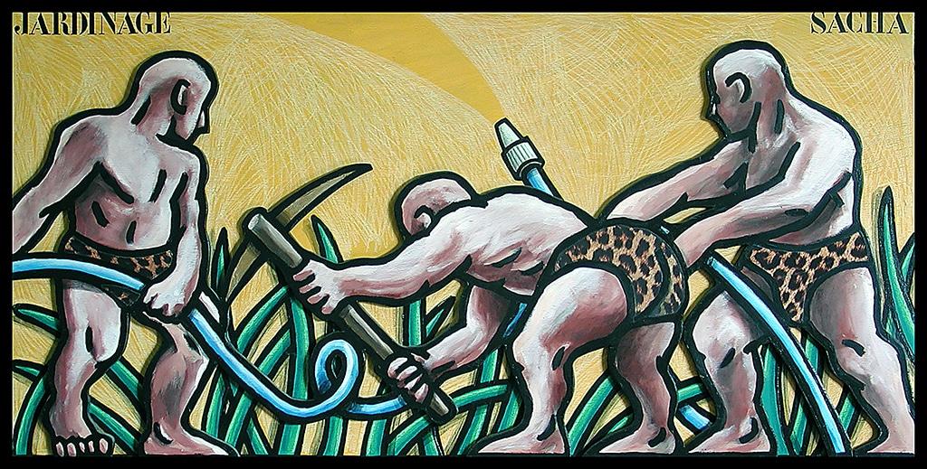 Sacha Schwarz - Oeuvres - Hommes : Jardinage
