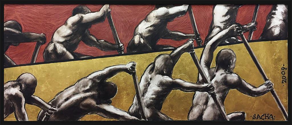 Sacha Schwarz - Oeuvres - Hommes : Rameurs 2