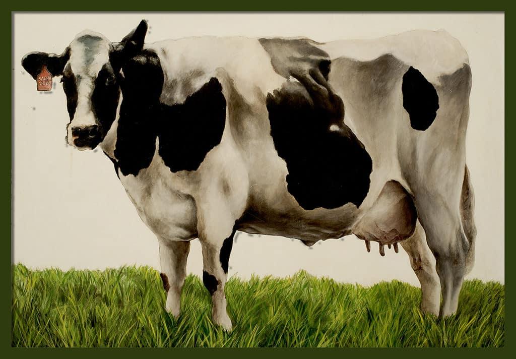 Sacha Schwarz - Oeuvres - Vaches - Icones : Vache 5