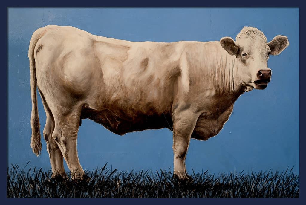 Sacha Schwarz - Oeuvres - Vaches - Icones : Vache 8